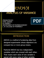 Anova-Analysis of Variance