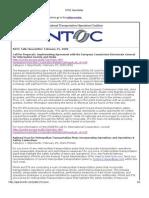 NTOC Newsletter - Feb 25, 2009