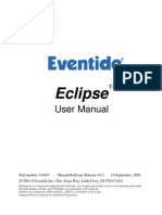Eventide Eclipse - 4.0.1 - User Manual