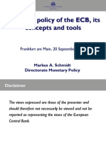 Monetary Policy of the ECB