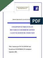Memoire Conception Mise en Place Tableaux de Bord Gestion Societe Confection