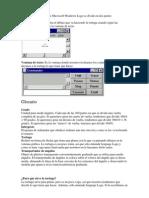 La pantalla del intérprete Microsoft Windows Logo se divide en dos partes