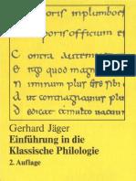 Einführung in die Klassische Philologie