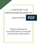 El lenguaje y las instituciones filosóficas