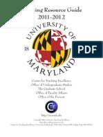 University of Maryland Teaching Resource Guide 2011-2012
