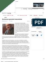 Se Buscan Gerentes Humanistas - Revista Capital