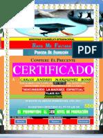(Carlos a) Certificado de Formacion (2do Nivel)
