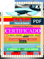 Certificado de Foramcion (2do Nivel)Clase 101 (Angela)