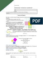 guia de aprendizaje Teorema de Pitágoras