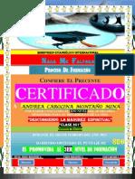 (Andrea) Certificado de Formacion (2do Nivel)