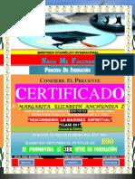 (Margarita)Certificado de Promocion (2do Nivel)