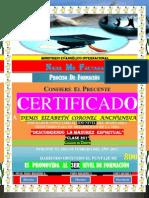 (Paulette) Certificado de Promocion (2do Nivel)
