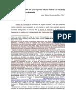o Julgamento Da Adpf 153 Pelo Supremo Tribunal Federal e a Inacabada Transicao Democratica Brasileira