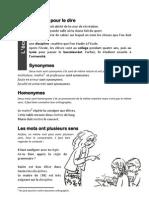 Vocabulaire de L-ecole Lecon