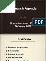 Dr. Donna Martinez Research Presentation