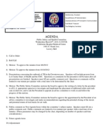DLANC Public Health & Safety Agenda for 3/6/2013
