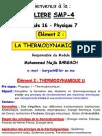 Thermodynamique II Chapitre 1