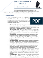 BNP Exeter and District Newsletter (February 2013)