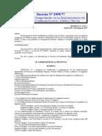 1999-77 Clasificación y Categorización de los Establecimientos del Servicio de Enseñanza Superior, Media y Técnica.