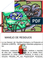 Manejo y Disposicion