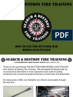 Butcher Bar bored lock lock-puller for Firefighter Forcible Entry