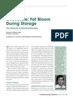 Chocolate Fat Bloom