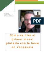 Cómo se hizo el primer mural pintado con la boca en Venezuel1