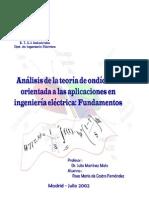 Analisis de La Teoria de Onditas y Sus Aplicaciones en Ingenieria Electrica