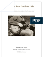 10 Must Know Jazz Guitar Licks eBook