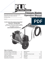 Excel XR2600 Pressure Washer Manual