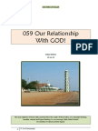 059 Our Relationship with GOD