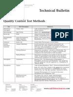 SAFC Biosciences - Technical Bulletin - Quality Control Test Methods