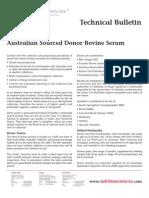 SAFC Biosciences - Technical Bulletin - Australian Sourced Donor Bovine Serum
