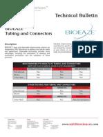 SAFC Biosciences - Technical Bulletin - BIOEAZE Bags — Tubing and Connectors