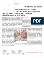 SAFC Biosciences - Technical Bulletin - Cell Culture Media Manufactured in the Continuous Pin Mill is Chemically Equivalent and Performs Comparably to Media Manufactured in Ball Mills