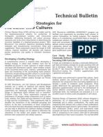 SAFC Biosciences - Technical Bulletin - Designing Feed Strategies for Fed-Batch CHO Cultures