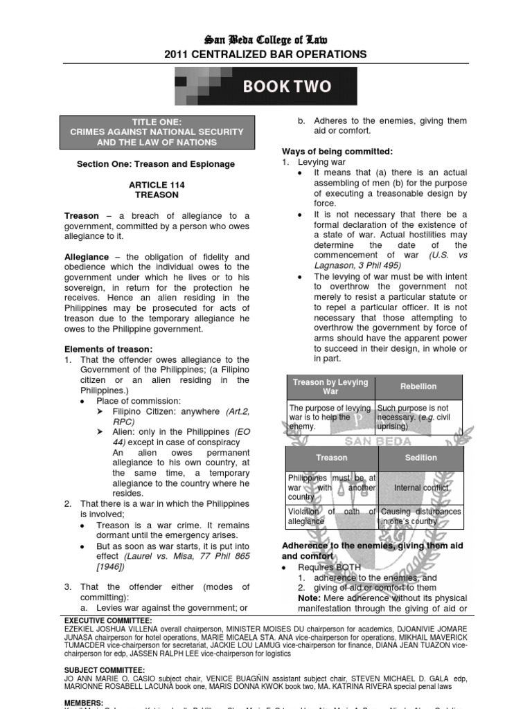 Criminal law book 21pdf treason search and seizure fandeluxe Image collections