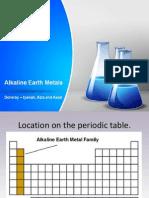 Group II Elements - Alkaline Metals