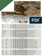 SPECOPS Individual Price List 2013