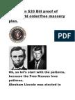 American Us 20 Dollar and 9 11 Proof of Free Mason Plot