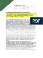 Model of Short Paper Summary