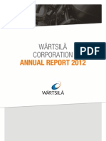 Wartsila Annual Report 2012.