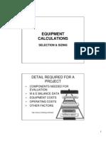 Equipment Calculations
