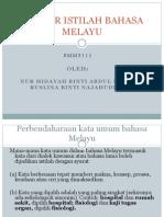 Sumber Istilah Bahasa Melayu