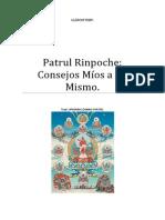 Patrul Rinpoche Consejos Míos a Mi Mismo