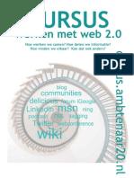 Cursus Web 2.0 flyer