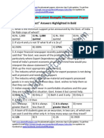 KPIT Sample Aptitude Placement Paper