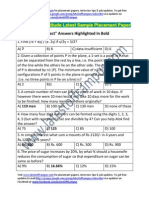ABB Group Sample Aptitude Placement Paper
