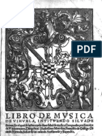 Libro de Musica de Vihuela, Intitulado Silva de Sirenas (Valladolid, 1547)