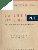 La Guerra Civil de 1891. Antecedentes económicos.
